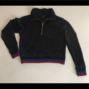 JCrew half zip cotton sweatshirt